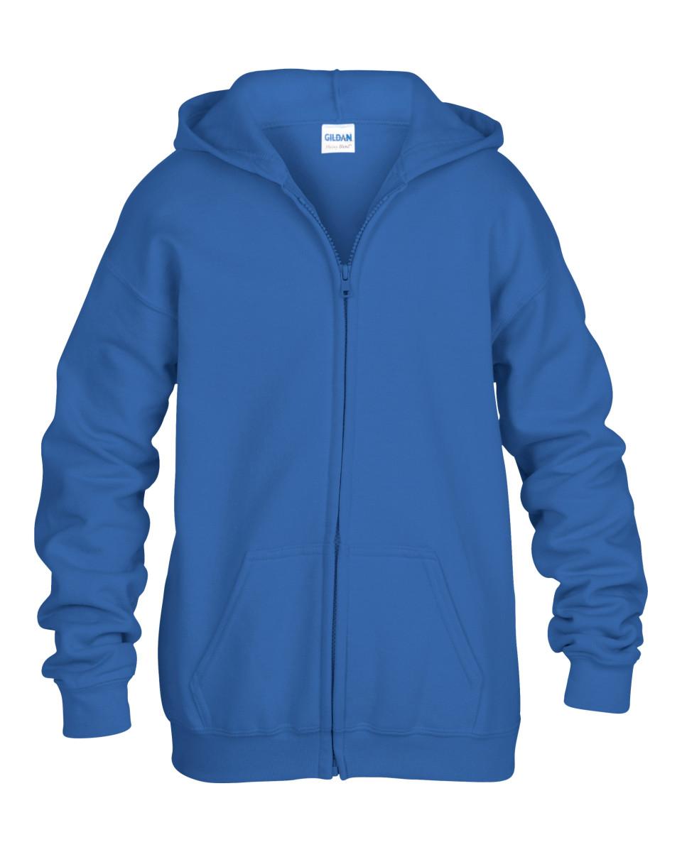 Gildan Children's Zipped Hooded Sweat