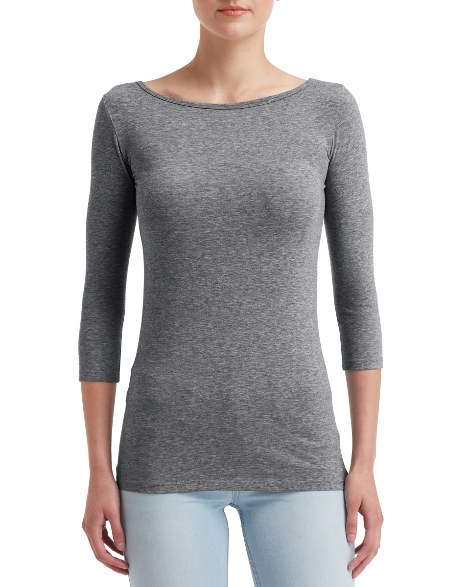 Anvil Womens Stretch 3/4 Sleeve Tee