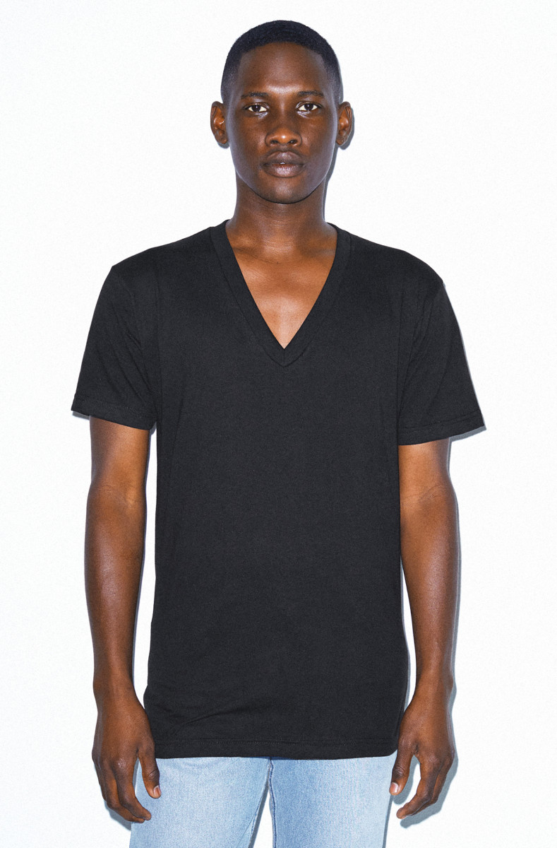 American Apparel Fine Jersey V Neck Tee