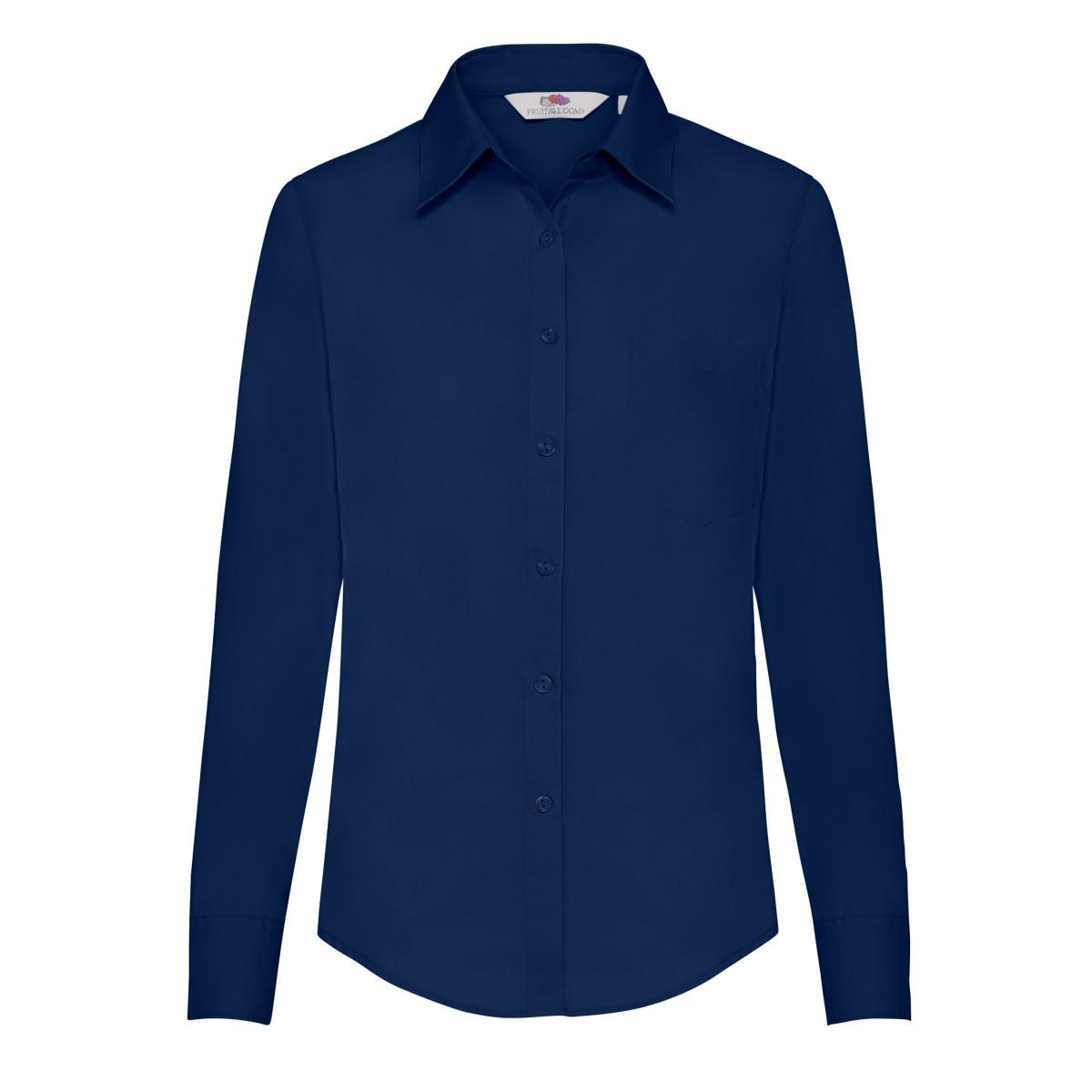 Lady-Fit Long Sleeve Poplin Shirt