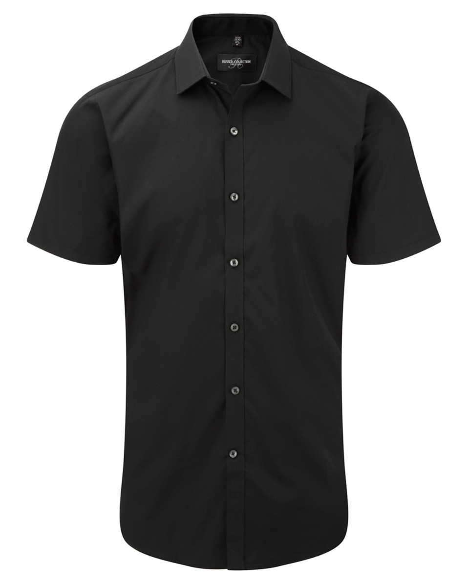 Russell Collection Mens S/S Stretch Shir
