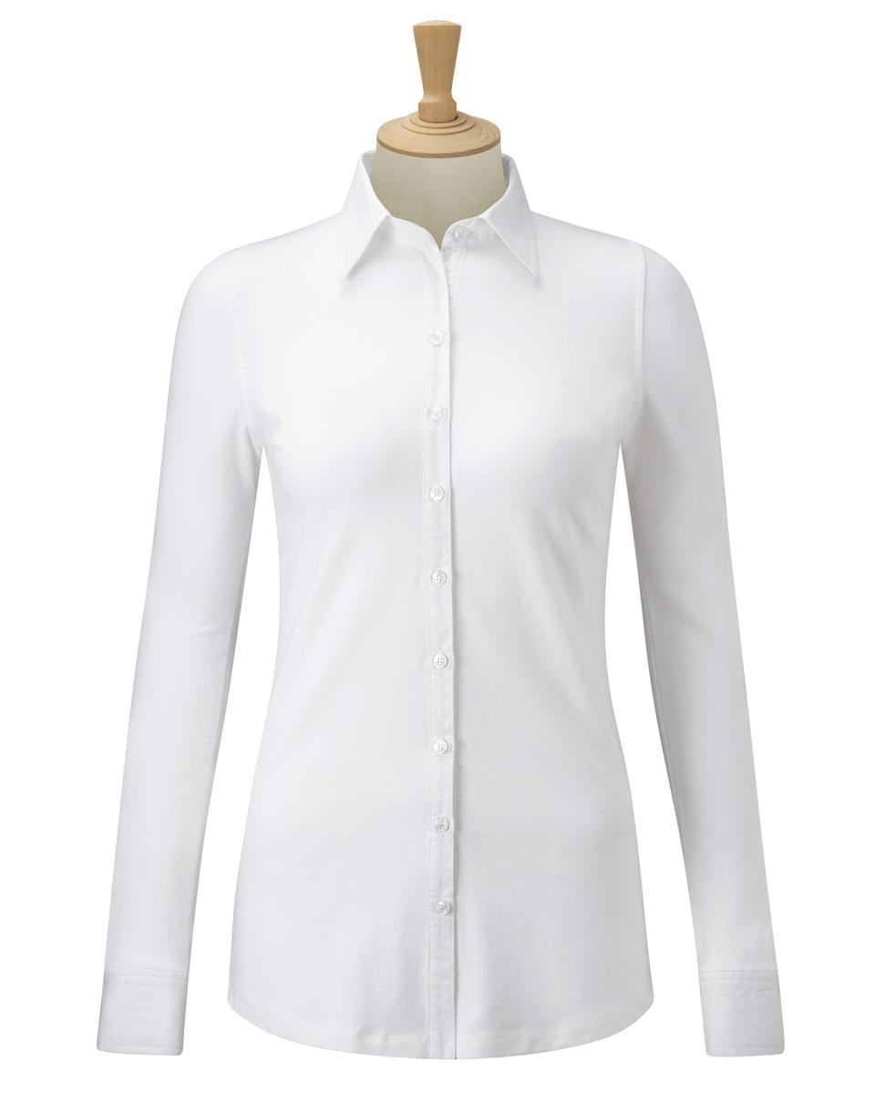Ladies' Long Sleeve Shirt Stretch Top