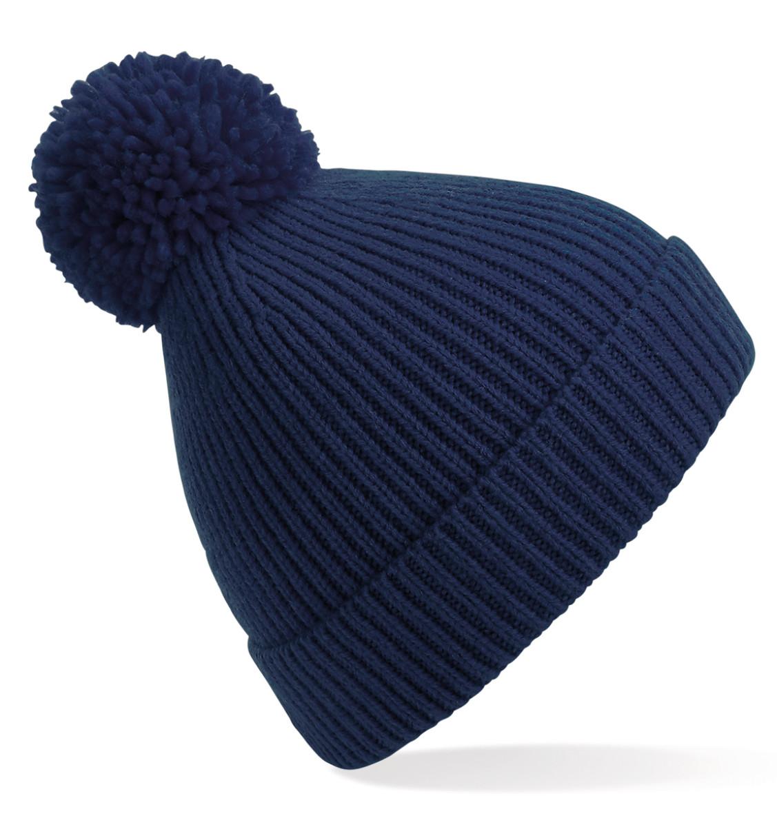Beechfield Knit Ribbed Pom Pom Beanie