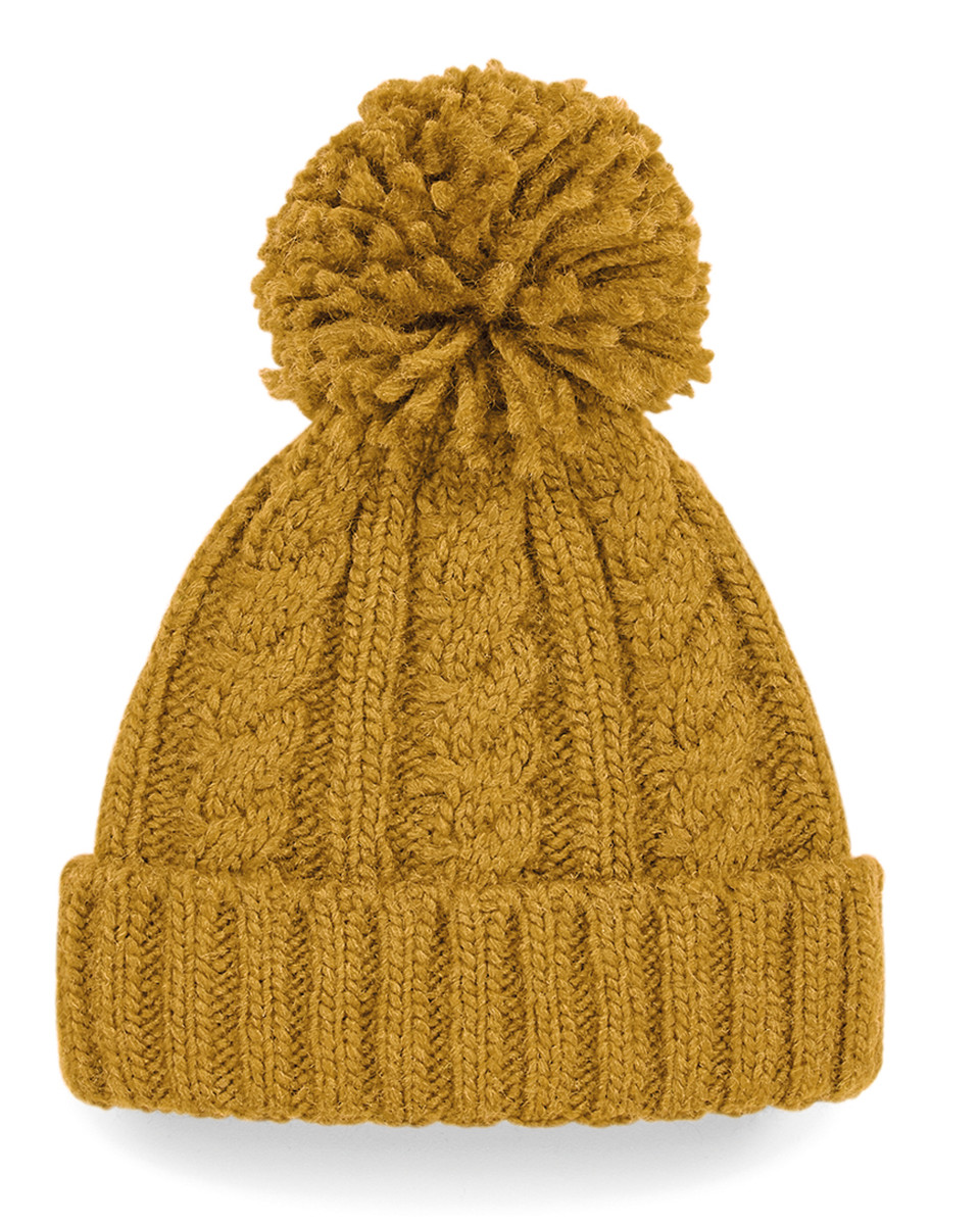 Beechfield Cable Knit Melange Beanie