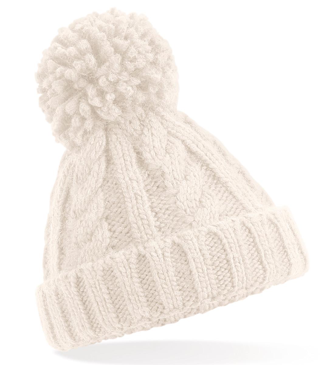 Beechfield Infant Cble Knit Melang Beane