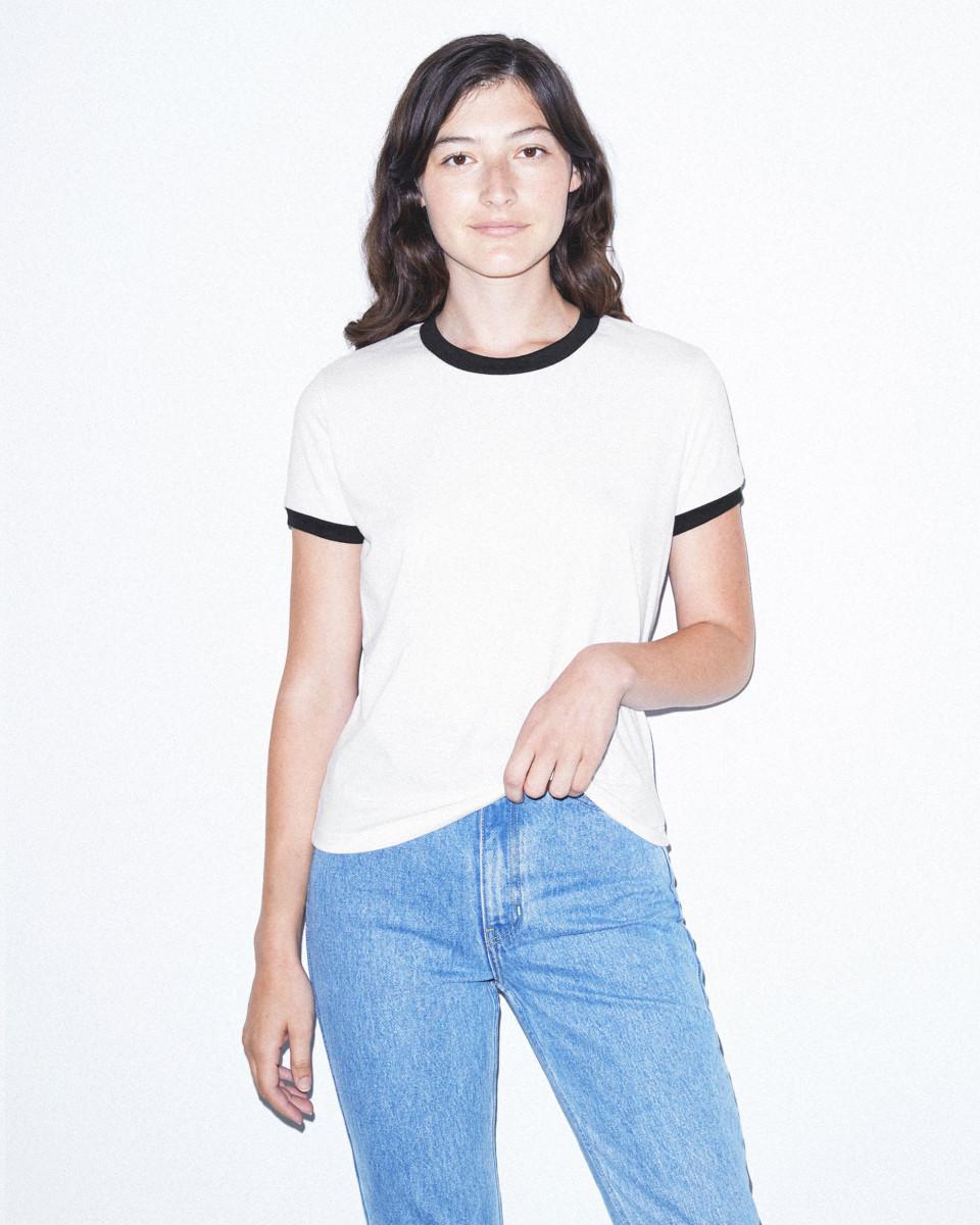 American Apparel Womens Ringer Tshirt