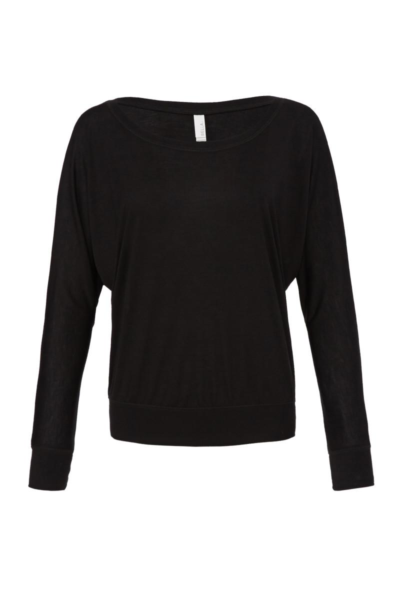 Flowy Off Shoulder Long Sleeve T-Shirt