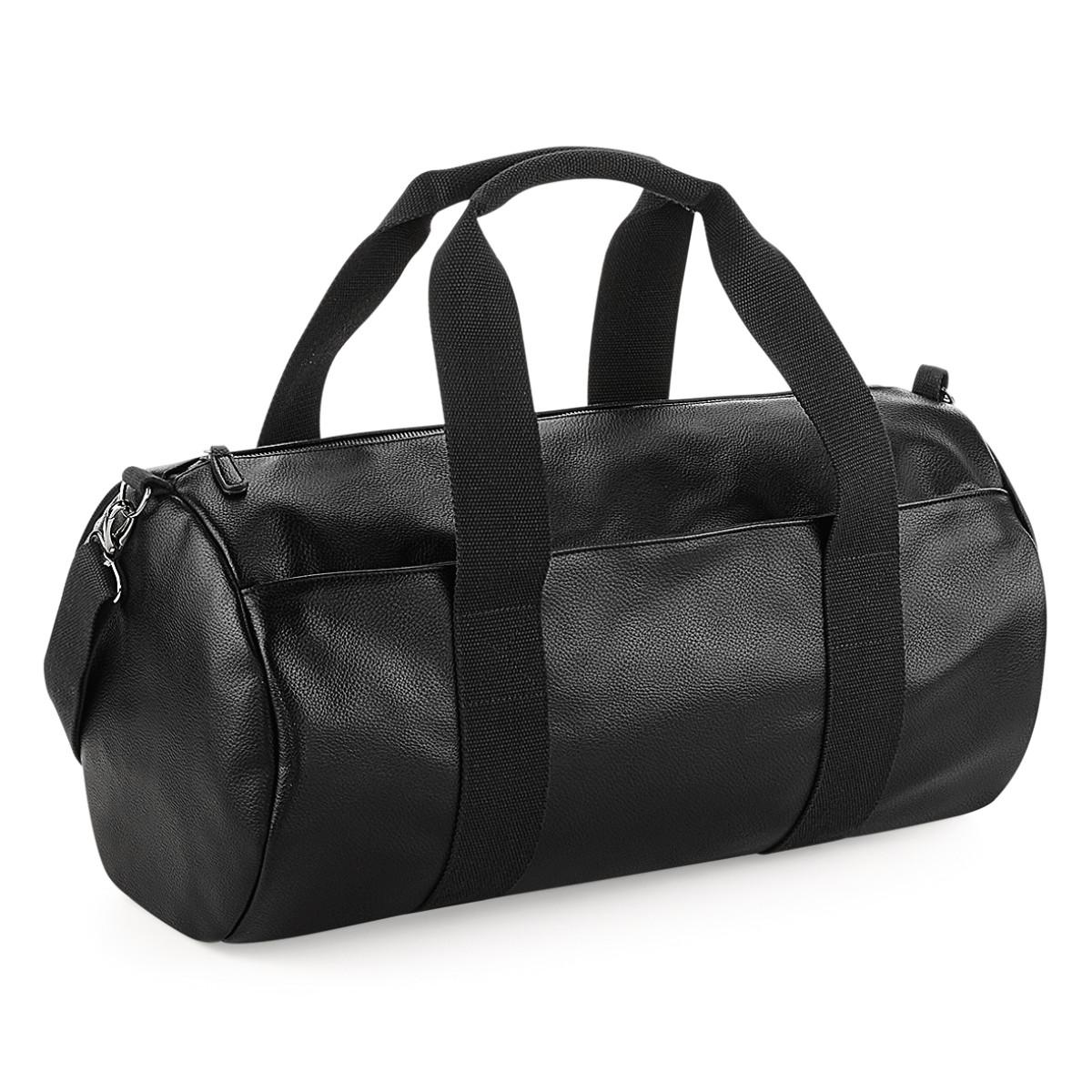 Bagbase Faux Leather Barrel Bag
