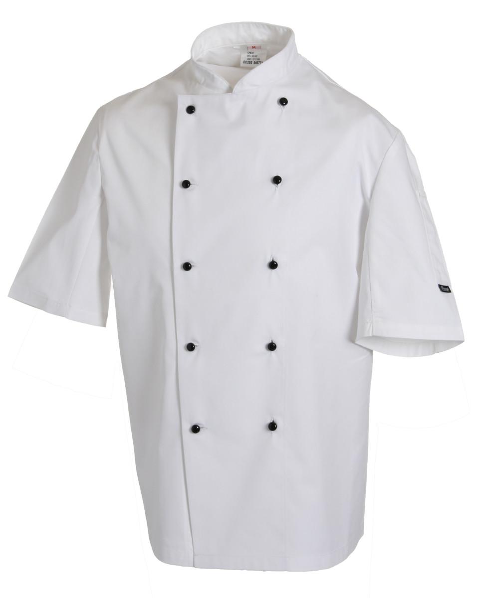 Lightweight Short Sleeve Chefs Jacket