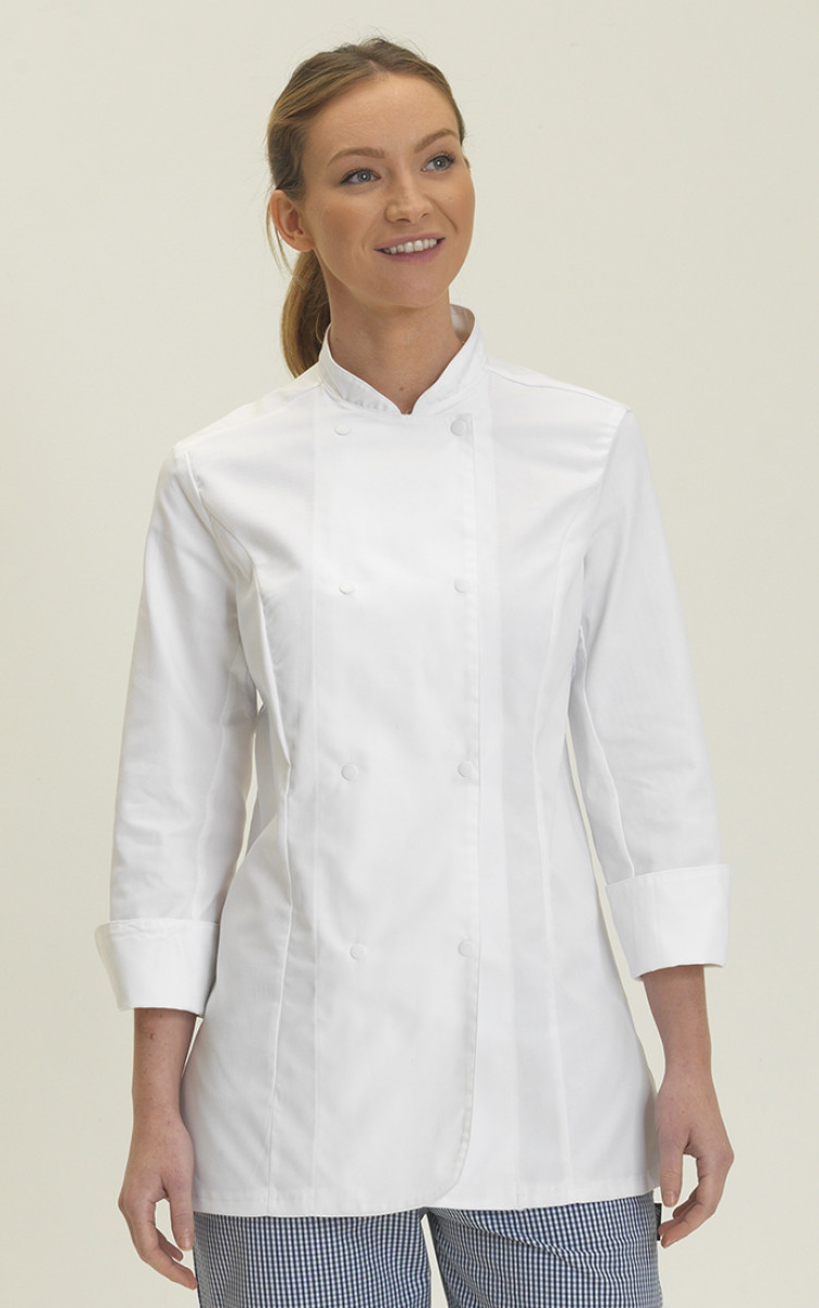 Dennys Ladies L/Sleeve Chefs Jacket