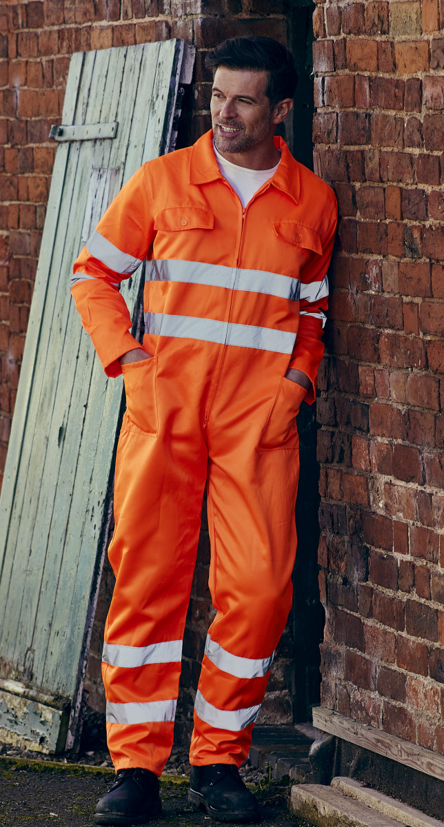 Hi-Vis Polycotton Coverall