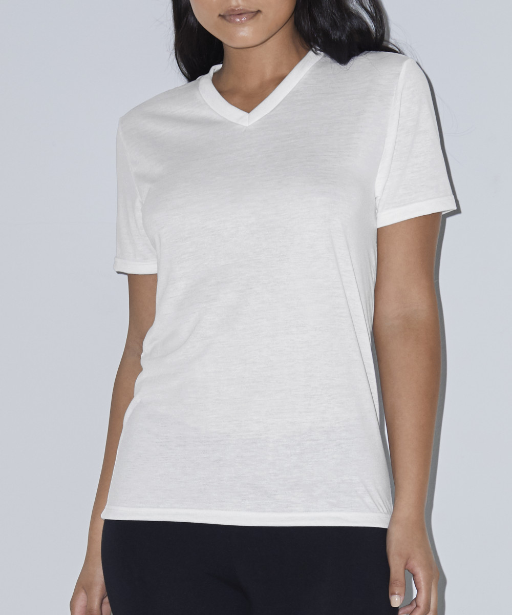 American Apparel Womens S/S Subli V Tee