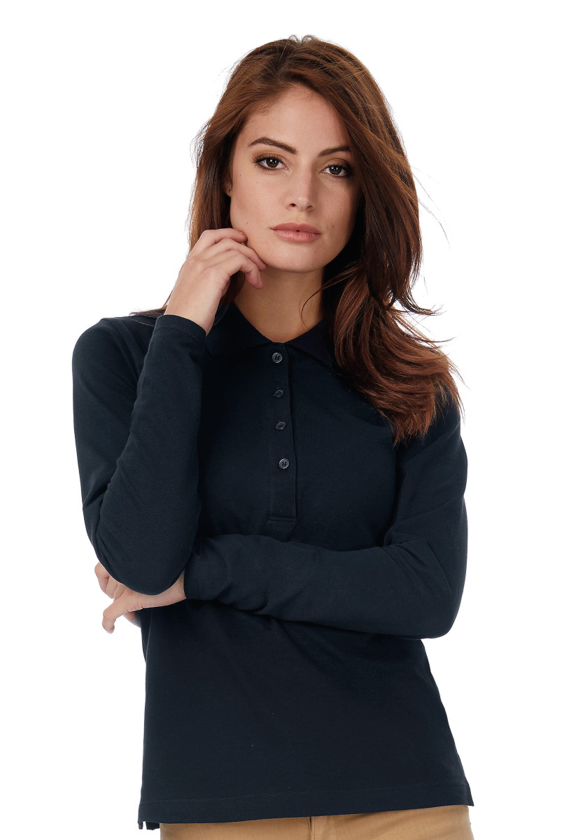 B&C Safran Pure Womens L/S Polo