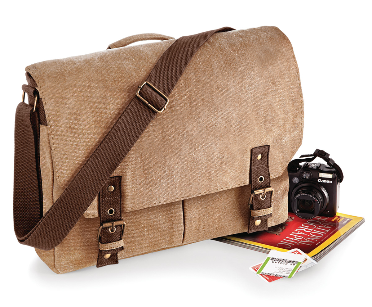 Quadra Vintage Canvas Satchel Messenger