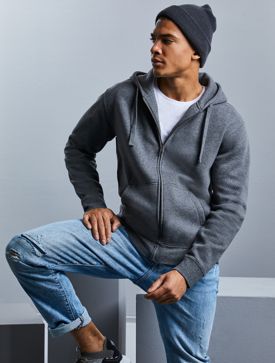Russell Mens Authentic Zipped Hoodie