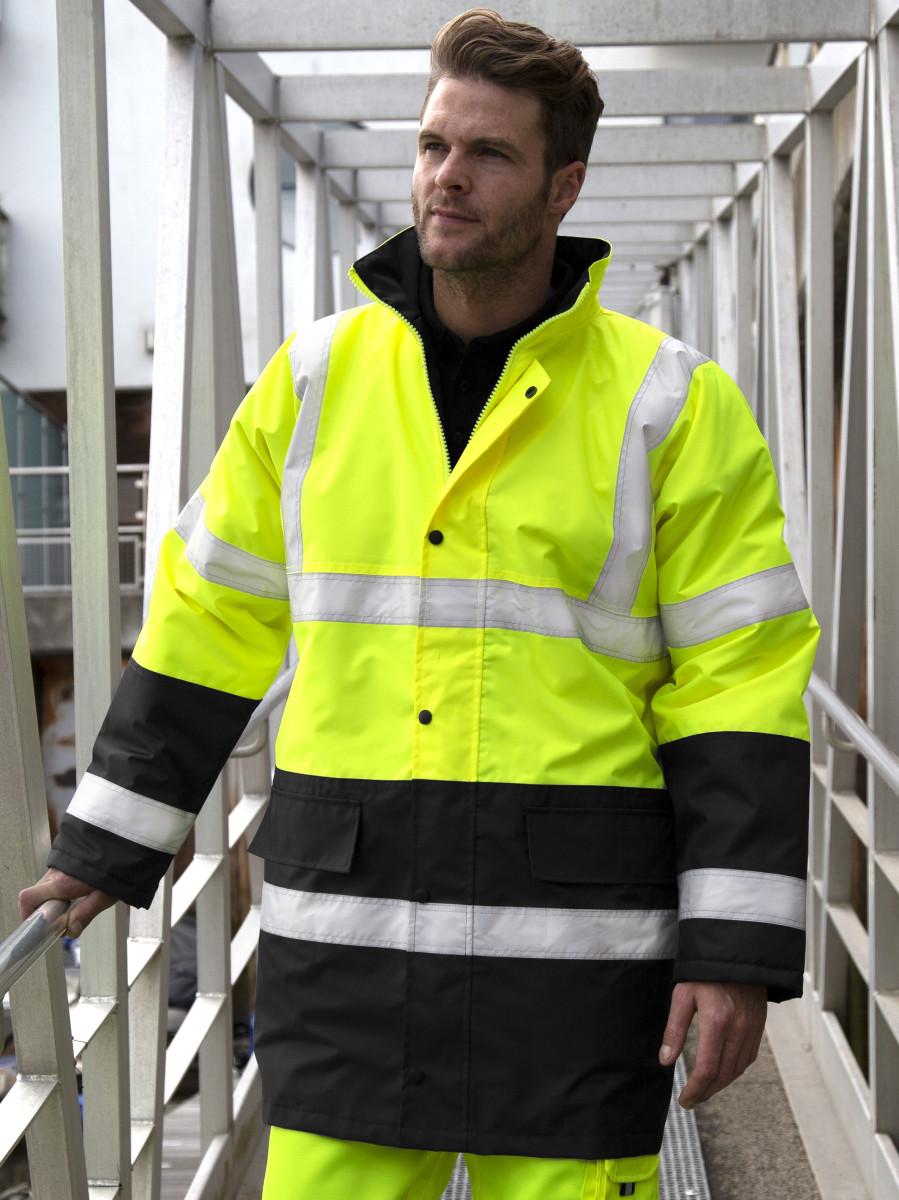 Result Safeguard Hiviz  Moterway Coat