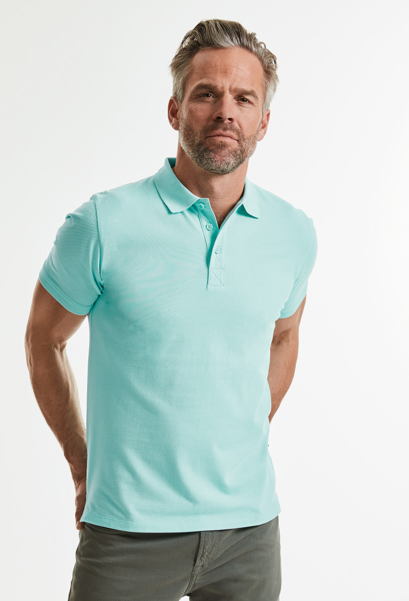 Russell Mens Pure Organic Polo