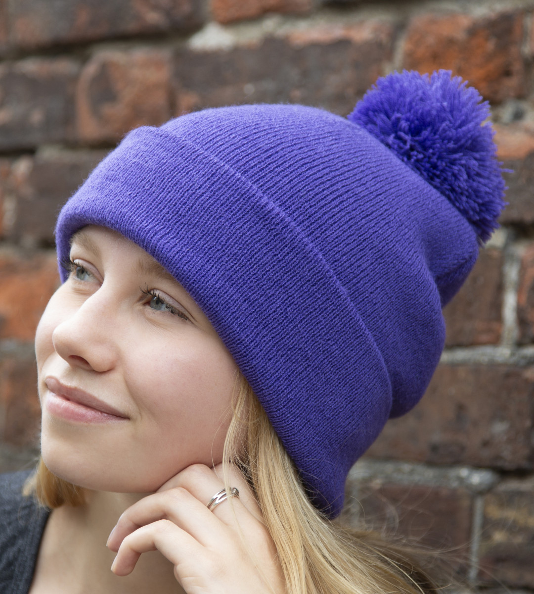 Result Winter Essentials Pom Pom Beanie