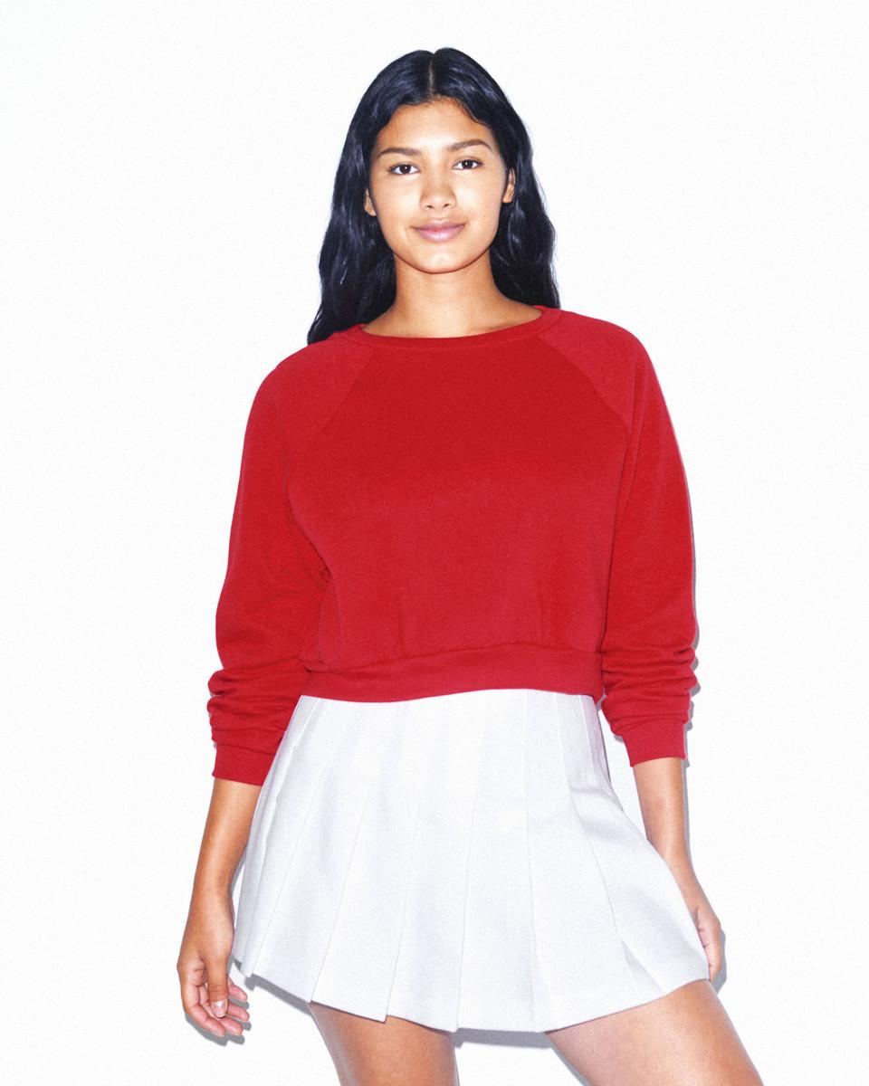 American Apparel Womens Crop Pullover