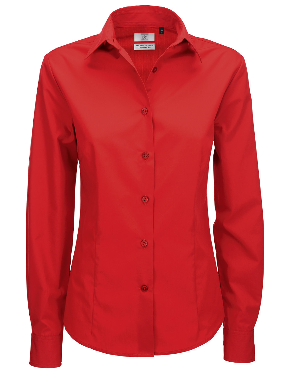 Ladies' Smart Long Sleeve Poplin Shirt