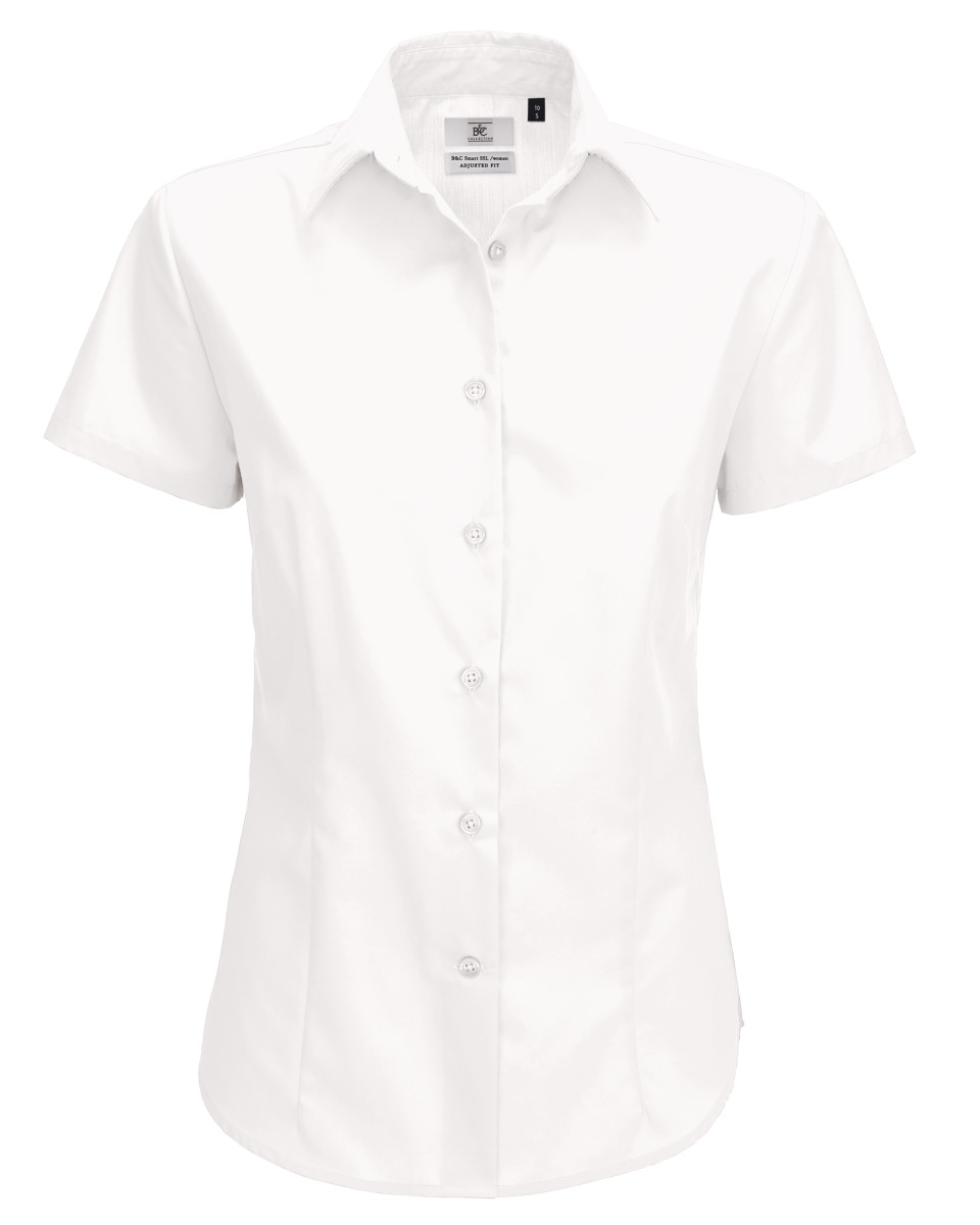 Ladies' Smart Short Sleeve Poplin Shirt