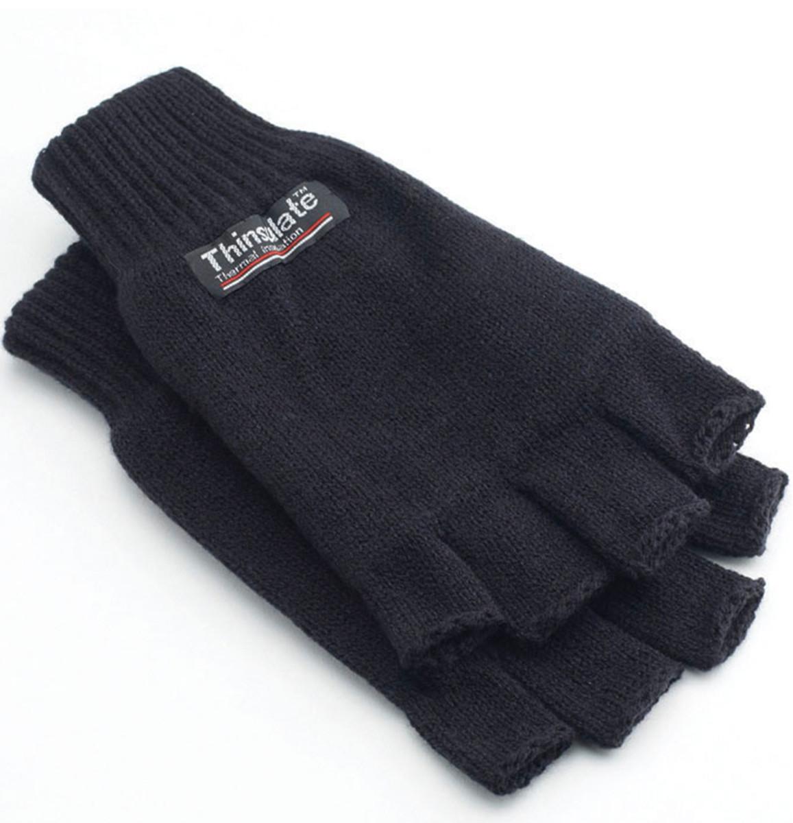 3M Thinsulate Half Finger Gloves